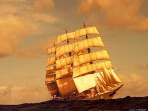 bir gemi ayrıldı usulca limandan